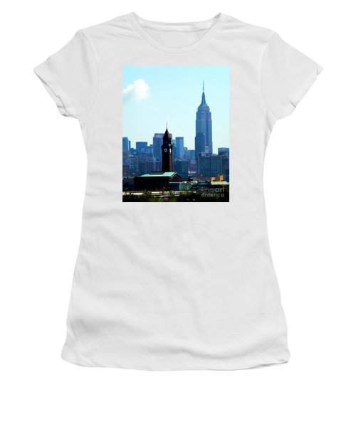 Hoboken And New York Women's T-Shirt (Athletic Fit)
