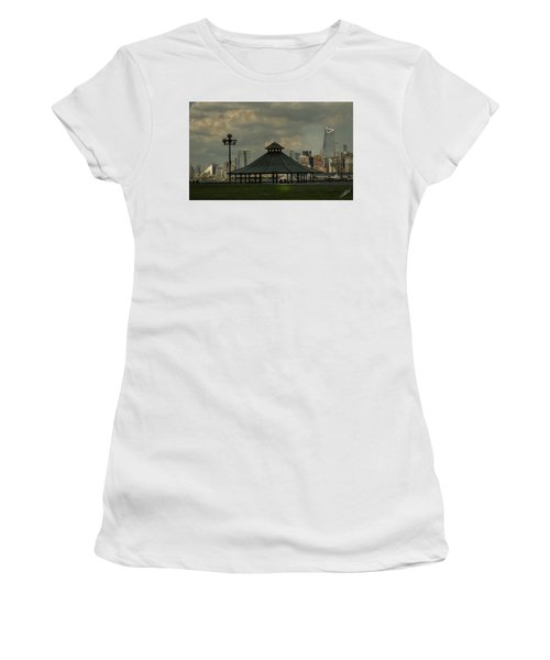 Hoboken, Nj -pier A Park Gazebo Women's T-Shirt (Athletic Fit)