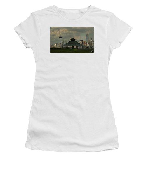 Hoboken, Nj -pier A Park Gazebo Women's T-Shirt (Athletic Fit)