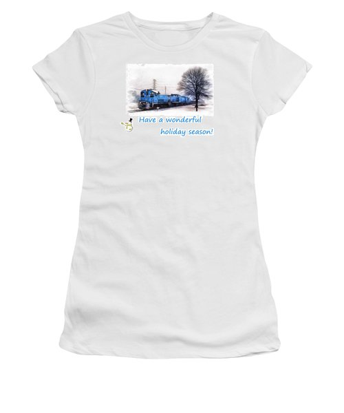 Holiday Train Women's T-Shirt (Athletic Fit)