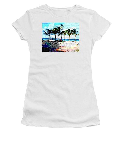 Hollywood Beach Fla Digital Women's T-Shirt (Athletic Fit)