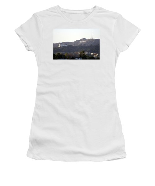 Hollywood Hills And Griffith Observatory Women's T-Shirt (Athletic Fit)