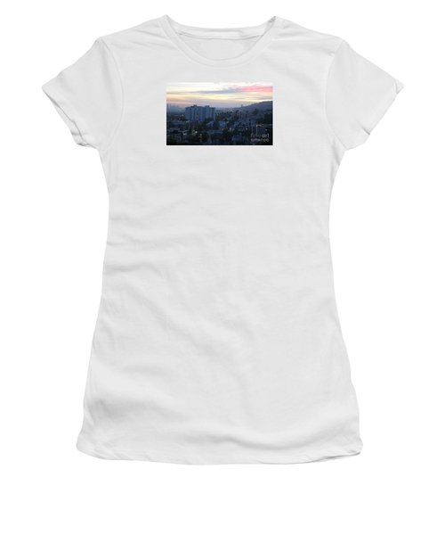 Hollywood Sunset Women's T-Shirt (Junior Cut) by Cheryl Del Toro
