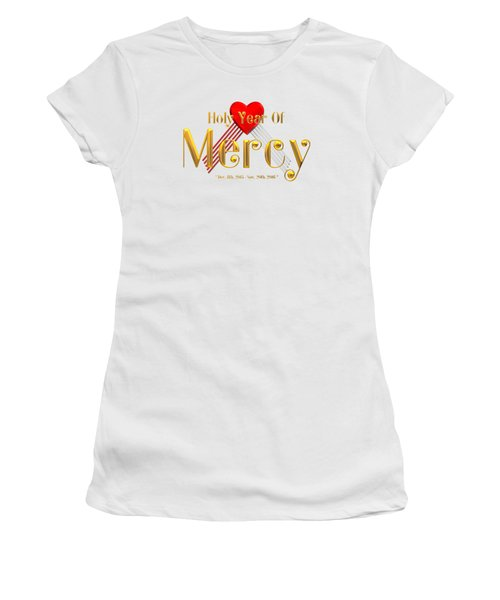 Women's T-Shirt featuring the digital art Holy Year Of Mercy by Rose Santuci-Sofranko