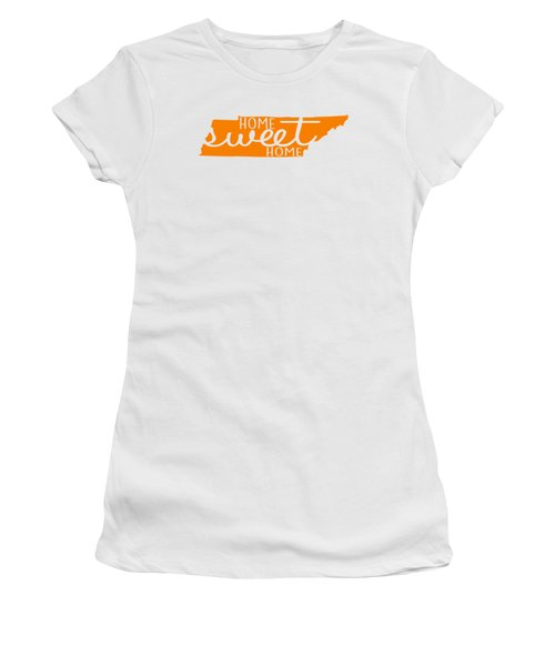 Women's T-Shirt (Junior Cut) featuring the digital art Home Sweet Home Tennessee by Heather Applegate