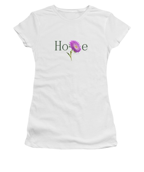 Women's T-Shirt (Junior Cut) featuring the digital art Hope Shirt by Ann Lauwers