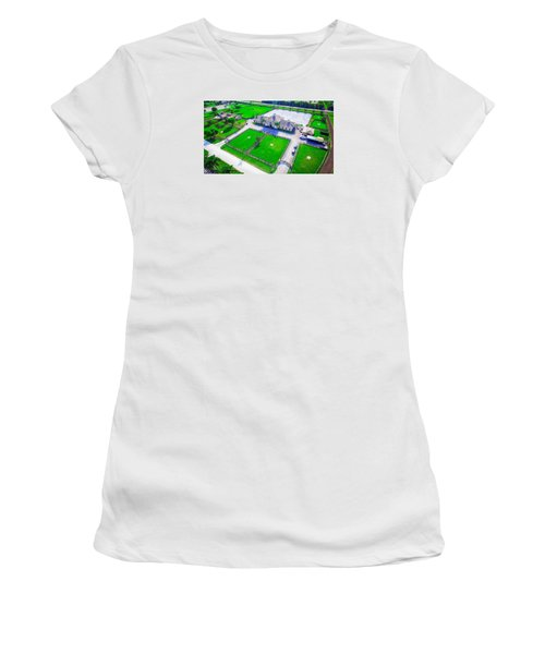 Horse Farm Aerial Women's T-Shirt (Athletic Fit)