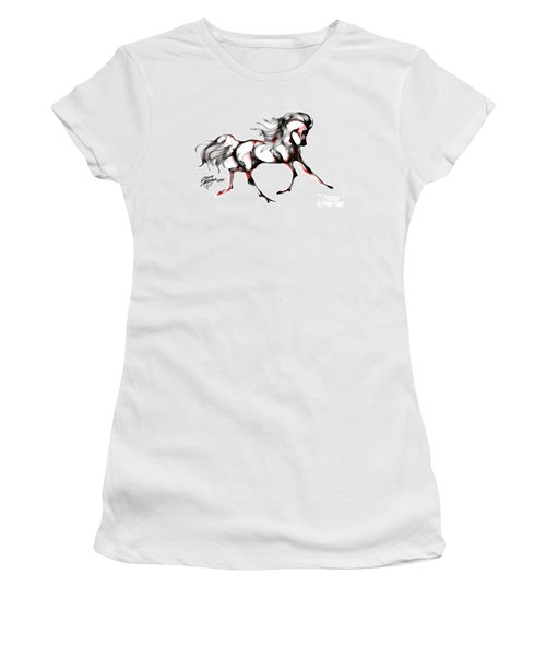 Horse In Extended Trot Women's T-Shirt (Junior Cut) by Stacey Mayer