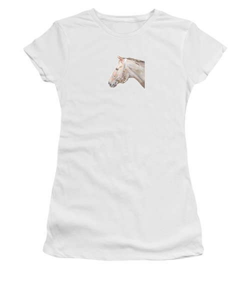 Women's T-Shirt (Junior Cut) featuring the painting Horse Portrait I by Elizabeth Lock