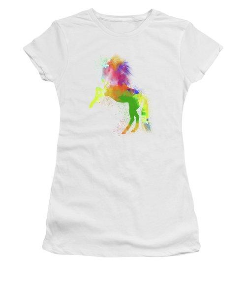 Horse Watercolor 2 Women's T-Shirt (Athletic Fit)