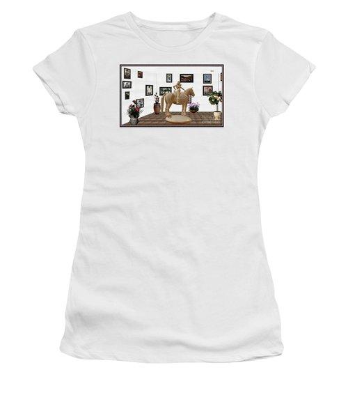 Virtual Exhibition -statue Of Horsewoman 12 Women's T-Shirt (Junior Cut) by Pemaro