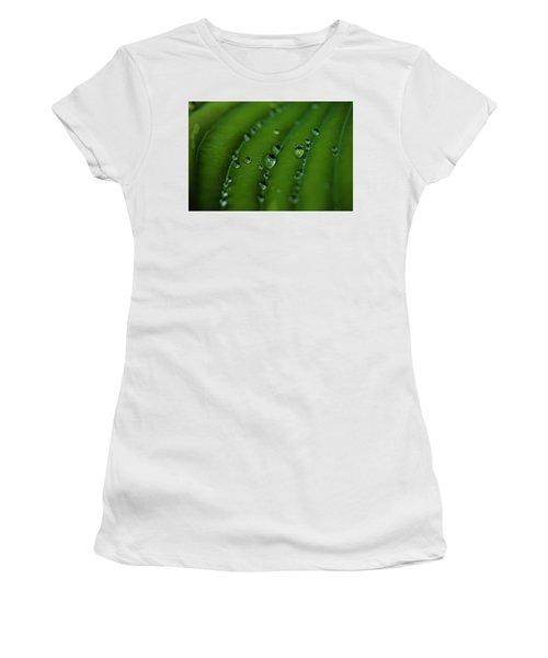 Hostas And Raindrops Women's T-Shirt