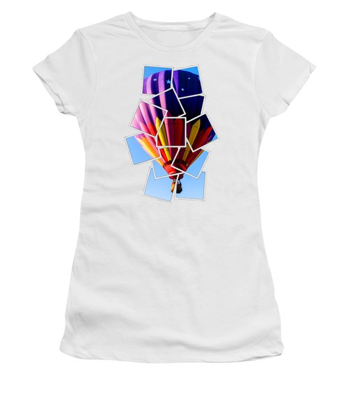 Hot Air Ballooning Tee Women's T-Shirt (Junior Cut) by Edward Fielding