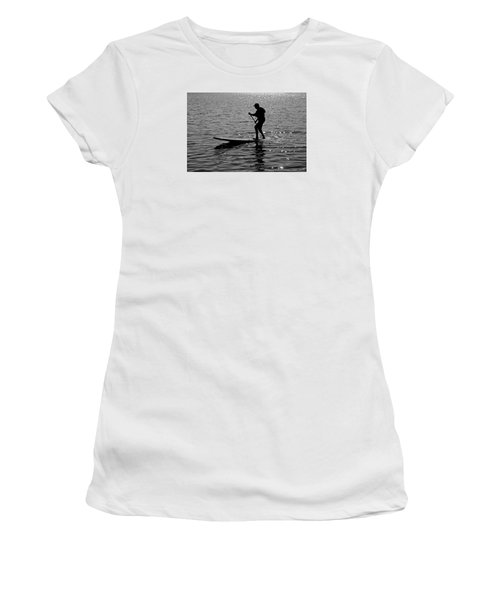 Hot Moves On A Sup Women's T-Shirt (Junior Cut)