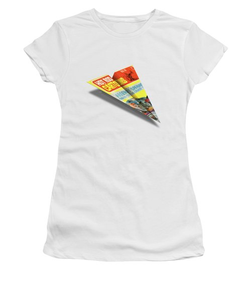 Hot Rod Cartoons 1969 03 Mad Paper Airplanes Women's T-Shirt