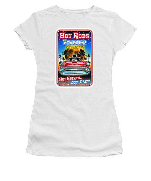 Hot Rods Forever Summer Tour Women's T-Shirt (Athletic Fit)