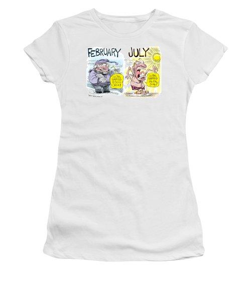 Hot Summer Global Warming Women's T-Shirt