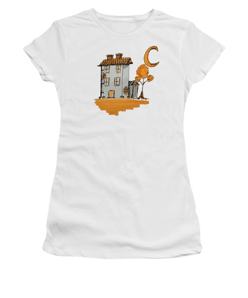 House And Moon Women's T-Shirt