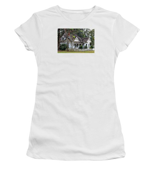 House With A Picket Fence Women's T-Shirt (Junior Cut) by Lynn Jordan