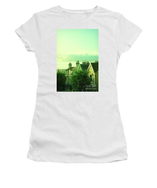 Women's T-Shirt (Junior Cut) featuring the photograph Houses by Jill Battaglia