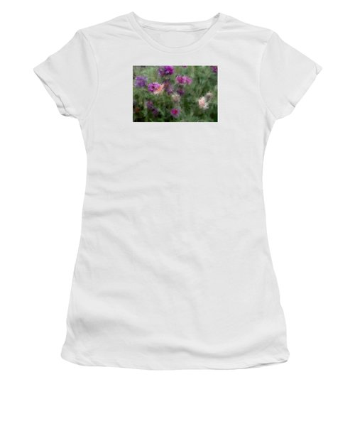 How I Love Flowers Women's T-Shirt (Junior Cut) by The Art Of Marilyn Ridoutt-Greene