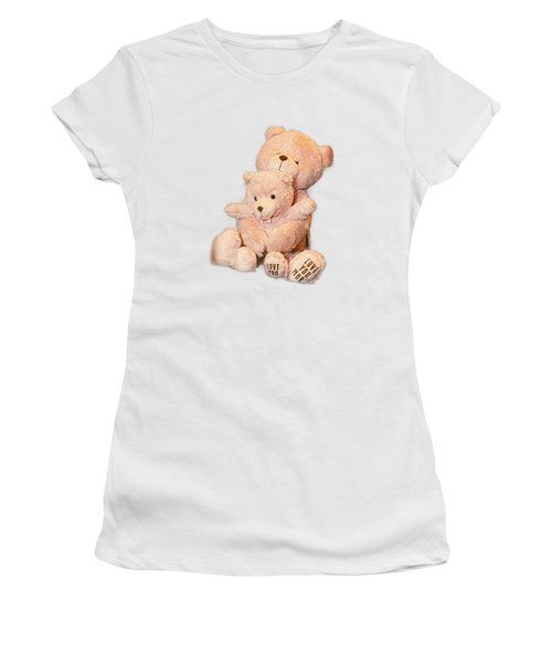 Women's T-Shirt (Junior Cut) featuring the photograph Hugging Bears Cut Out by Linda Phelps