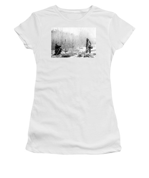 Hunting Camp Winter 1887-88 -- South Dakota Women's T-Shirt (Athletic Fit)