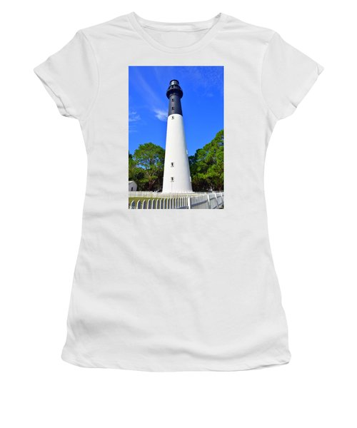 Hunting Island Lighthouse Beaufort Sc Women's T-Shirt (Athletic Fit)