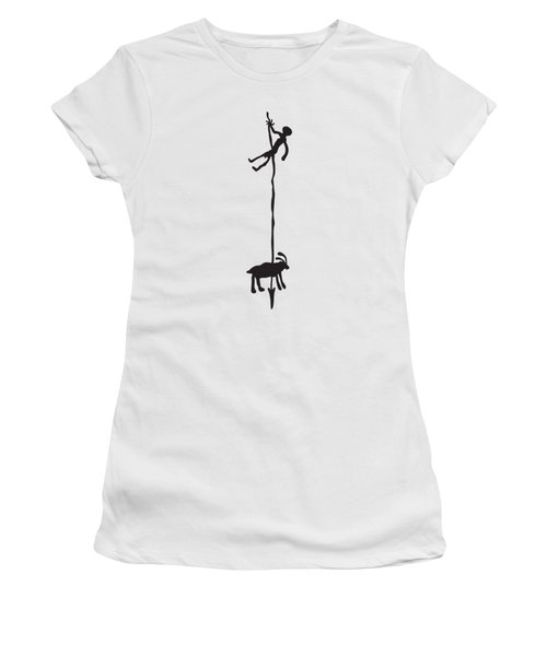 Hunting Petroglyph Women's T-Shirt (Athletic Fit)