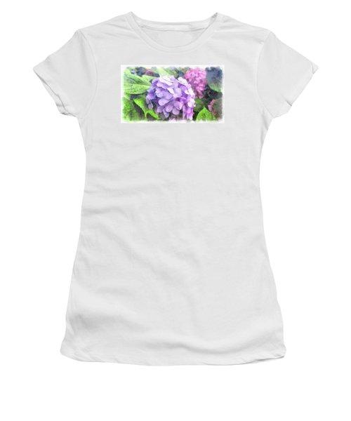 Hydrangea Women's T-Shirt (Junior Cut)