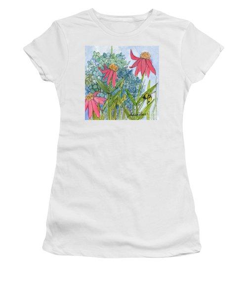 Hydrangea With Bee Women's T-Shirt