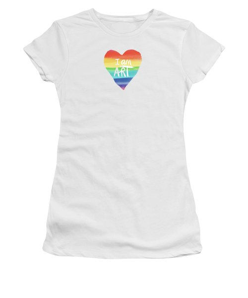 I Am Art Rainbow Heart- Art By Linda Woods Women's T-Shirt