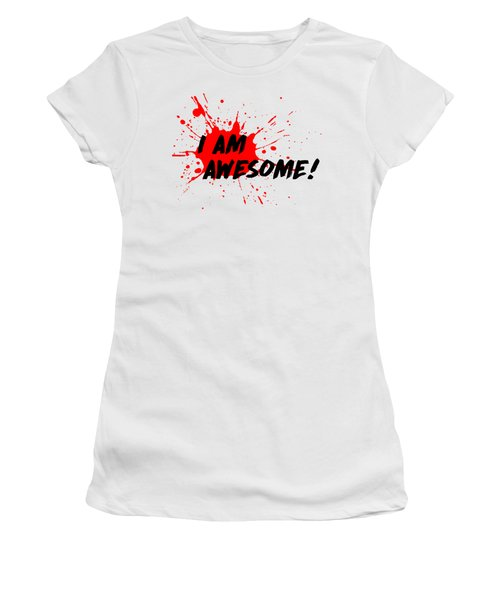 I Am Awesome - Light Background Version Women's T-Shirt (Junior Cut) by Menega Sabidussi