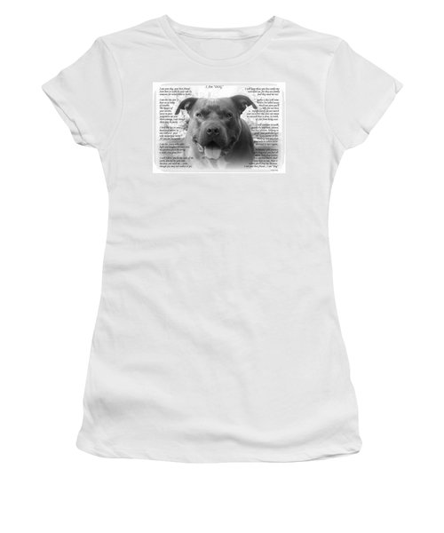 I Am Dog Women's T-Shirt (Athletic Fit)