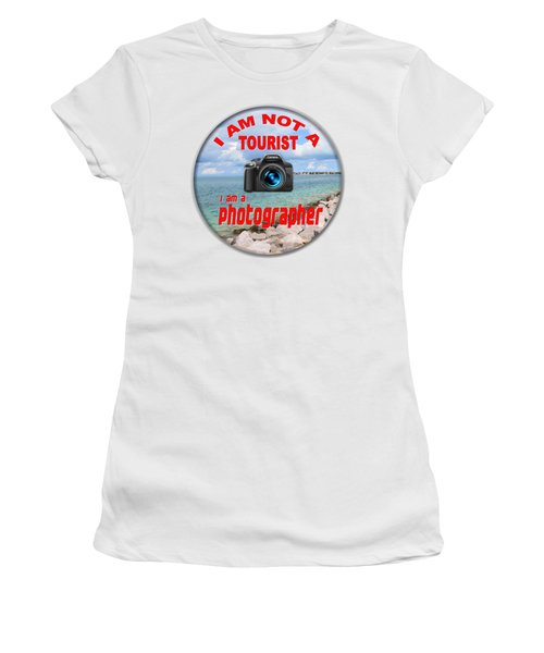 I Am Not A Tourist Women's T-Shirt (Athletic Fit)