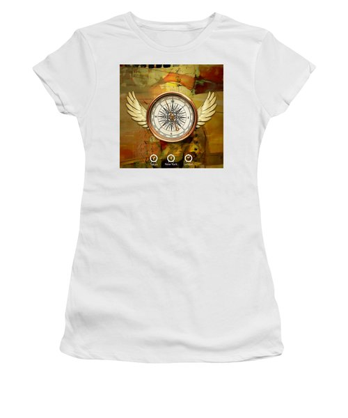 Women's T-Shirt (Athletic Fit) featuring the mixed media I Believe I Can Soar by Marvin Blaine