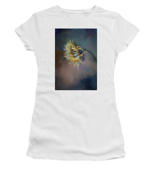 I Feel Like A Sunflower Painting Women's T-Shirt (Athletic Fit)