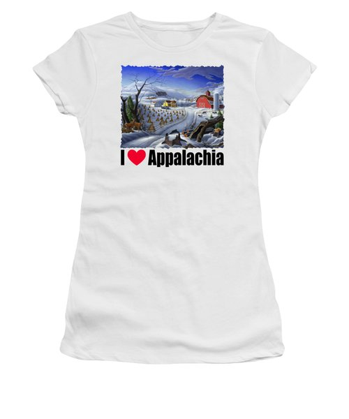 I Love Appalachia - Rural Winter Landscape Women's T-Shirt