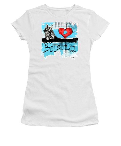 I Love Botswana  Women's T-Shirt (Athletic Fit)