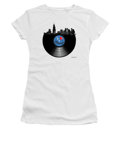 I Love Chicago Women's T-Shirt (Athletic Fit)