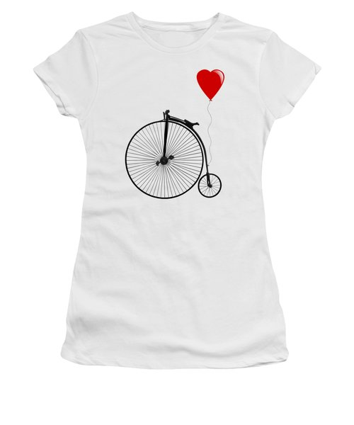 I Love Cycling Women's T-Shirt (Athletic Fit)