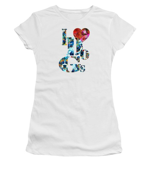 I Love Dogs By Sharon Cummings Women's T-Shirt