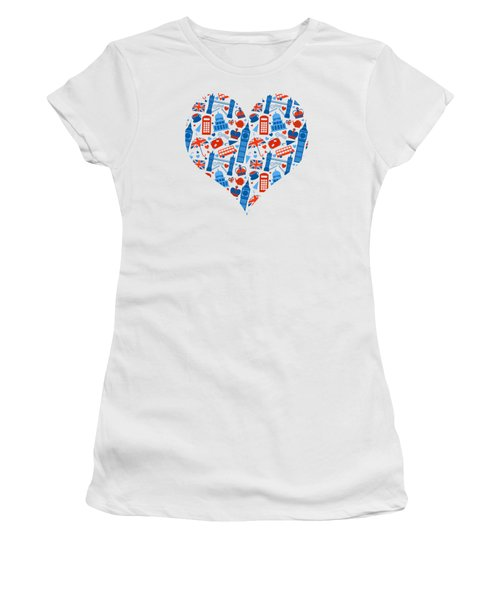 I Love England A Pattern For Anglophiles Women's T-Shirt