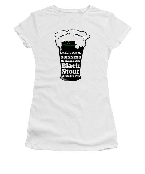 I Love Guinness  Women's T-Shirt (Junior Cut) by FirstTees Motivational Artwork