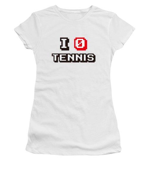 I Love Tennis Women's T-Shirt (Athletic Fit)