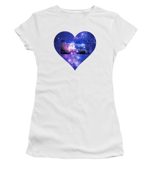 I Love The Night Sky Women's T-Shirt (Junior Cut) by Leanne Seymour