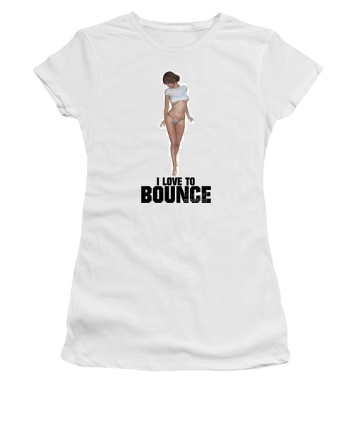 I Love To Bounce Women's T-Shirt (Junior Cut) by Esoterica Art Agency