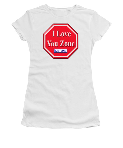 I Love You Zone Women's T-Shirt (Athletic Fit)
