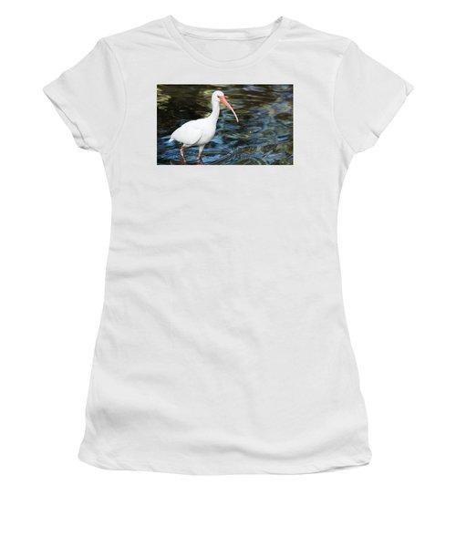 Ibis In The Swamp Women's T-Shirt (Junior Cut) by Kenneth Albin