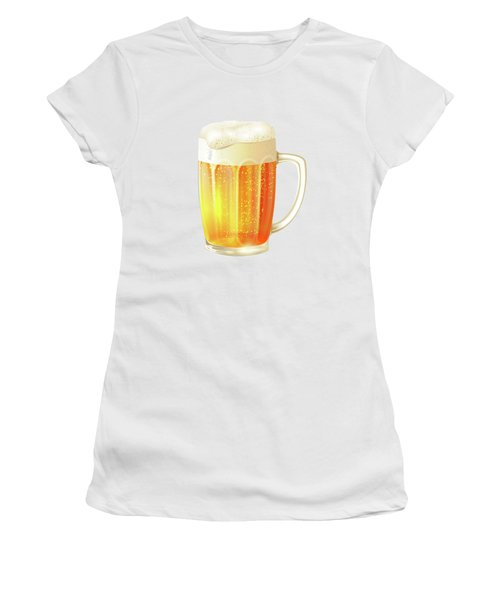 Ice Cold Beer Pattern Women's T-Shirt (Athletic Fit)